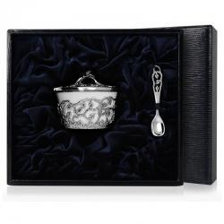 Серебряная солонка «Листопад»