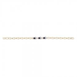 Золотой браслет c сапфиром и бриллиантом