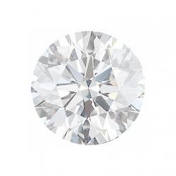 Сертифицированный бесцветный бриллиант круглой огранки