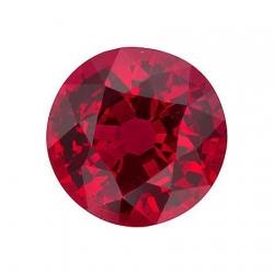 Сертифицированный рубин круглой огранки