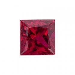 Сертифицированный рубин квадратный (принцесса)