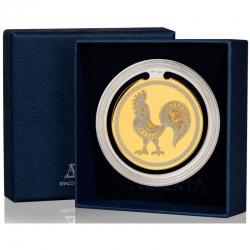 """Закладка для книг с логотипом """"Золотой петушок"""" с позолотой"""